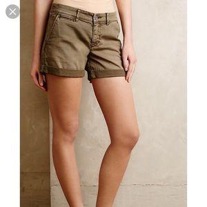 Pilcro/Anthropologie hyphen Shorts, tan, 25